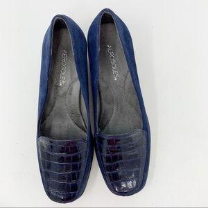 Aero soles Blue Suede/Patent 9M (97)
